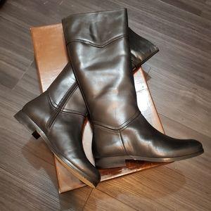 Diba True Poppyseed Tall Leather Riding Boots